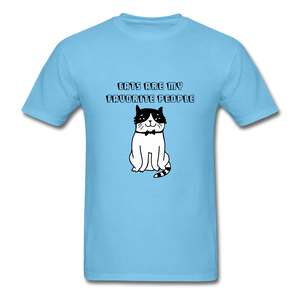 Cats are my Favorite People T-Shirt - aquatic blue