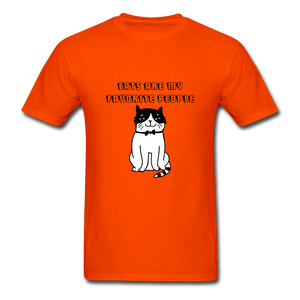 Cats are my Favorite People T-Shirt - orange