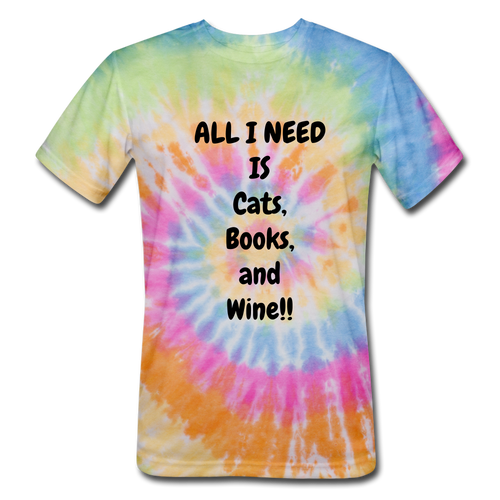 Cats, Books, and Wine - rainbow
