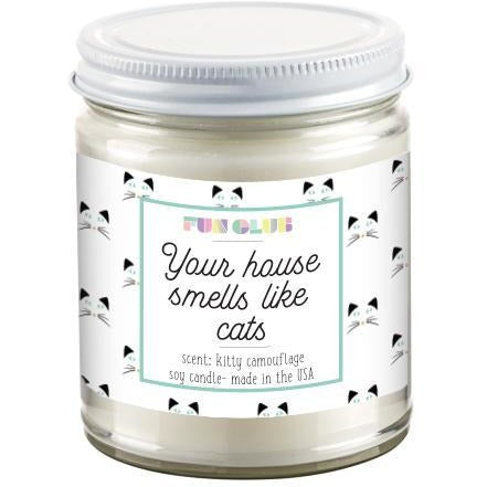 Your House Smells Like Cats Candle