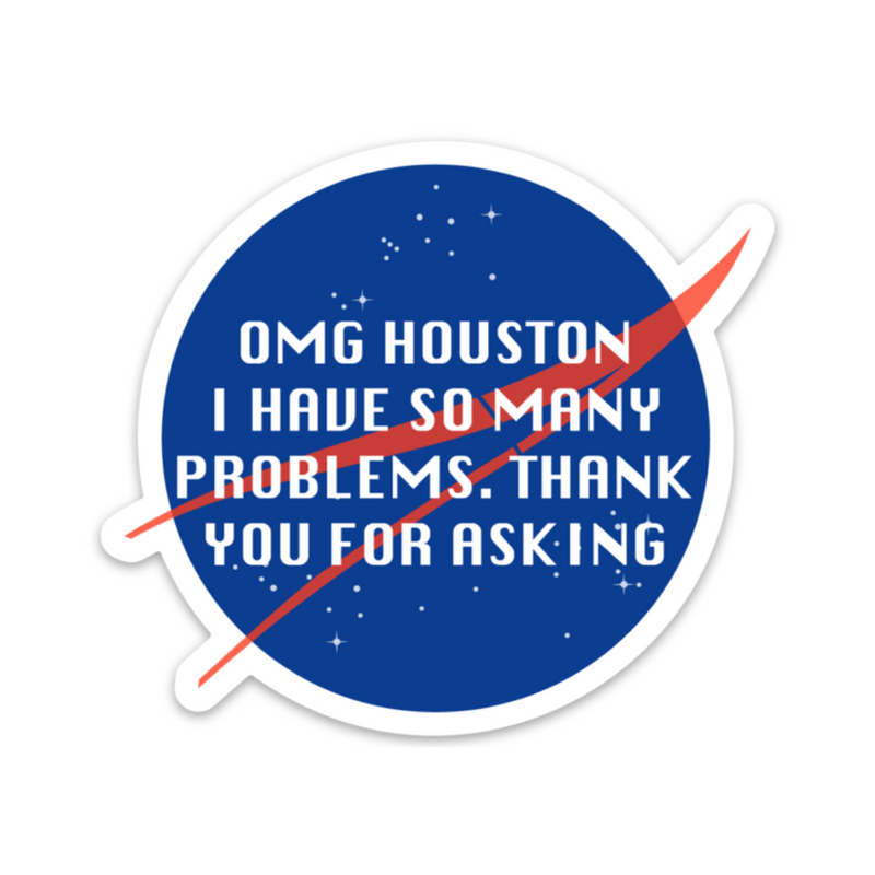 OMG Houston Sticker