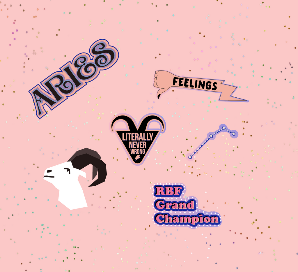 Aries Astrological Sticker Sheet