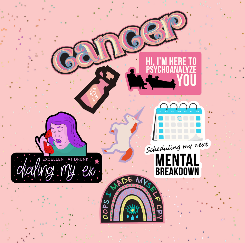 Cancer Astrological Sticker Sheet