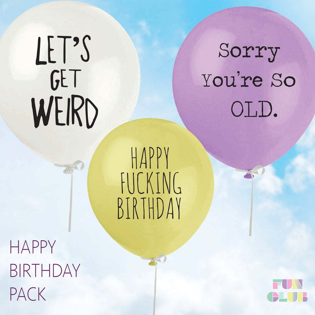 Happy Fucking Birthday Balloon Pack