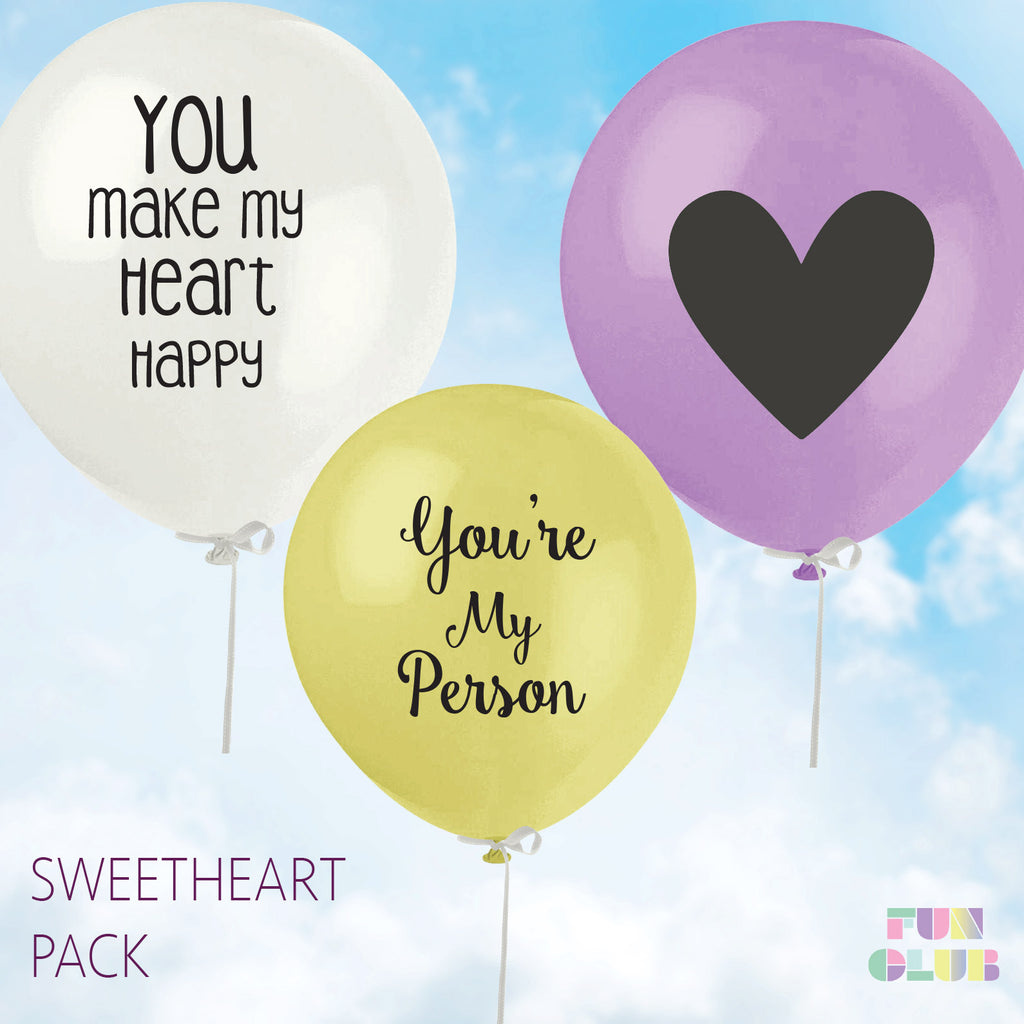 Sweetheart Balloon Pack