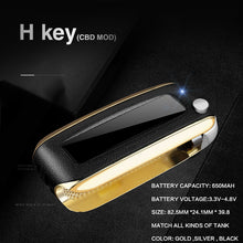 Load image into Gallery viewer, SPARX Black H-Key Mini Box Battery 650mah Vape Variable Voltage