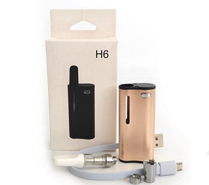 H6 Kit Oil Vape Box Mod - Gold- 350mAh Battery Vaporizer With Two Size Magnetic Connection Fit 510 Thread Cartridges