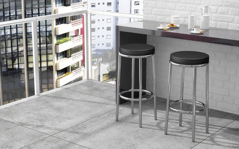 Steel Black Bar Stool