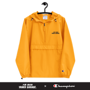champion packable windbreaker yellow