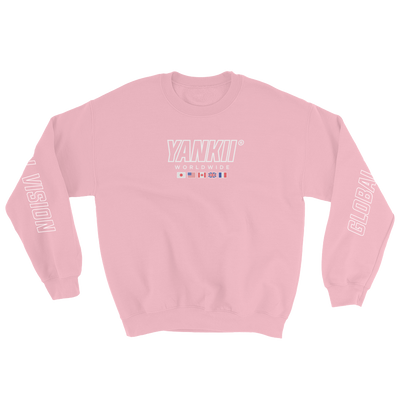 JDM Sweatshirt | Yankii Worldwide - Crewneck Light Pink