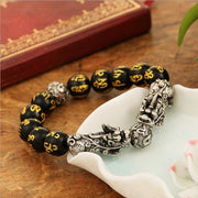 plating Antique  Silver Lucky National Wind pixiu  Bracelet  for Men