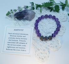 Load image into Gallery viewer, Amethyst Healing Gemstone Bracelet