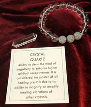 Load image into Gallery viewer, Crystal Quartz Healing Gemstone Bracelet