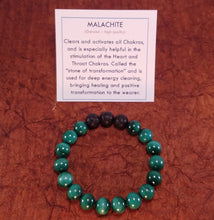 Load image into Gallery viewer, Malachite Healing Gemstone Bracelet