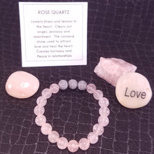 Load image into Gallery viewer, Rose Quartz Healing Gemstone Bracelet