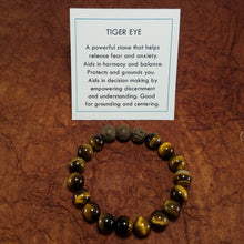 Load image into Gallery viewer, Tiger Eye Healing Gemstone Braclet
