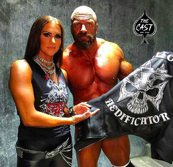 3852a6e4691a1 Triple H for WWE Wrestlemania  Custom Made-To-Measure Leather Vest  w Printed Leather Applique.
