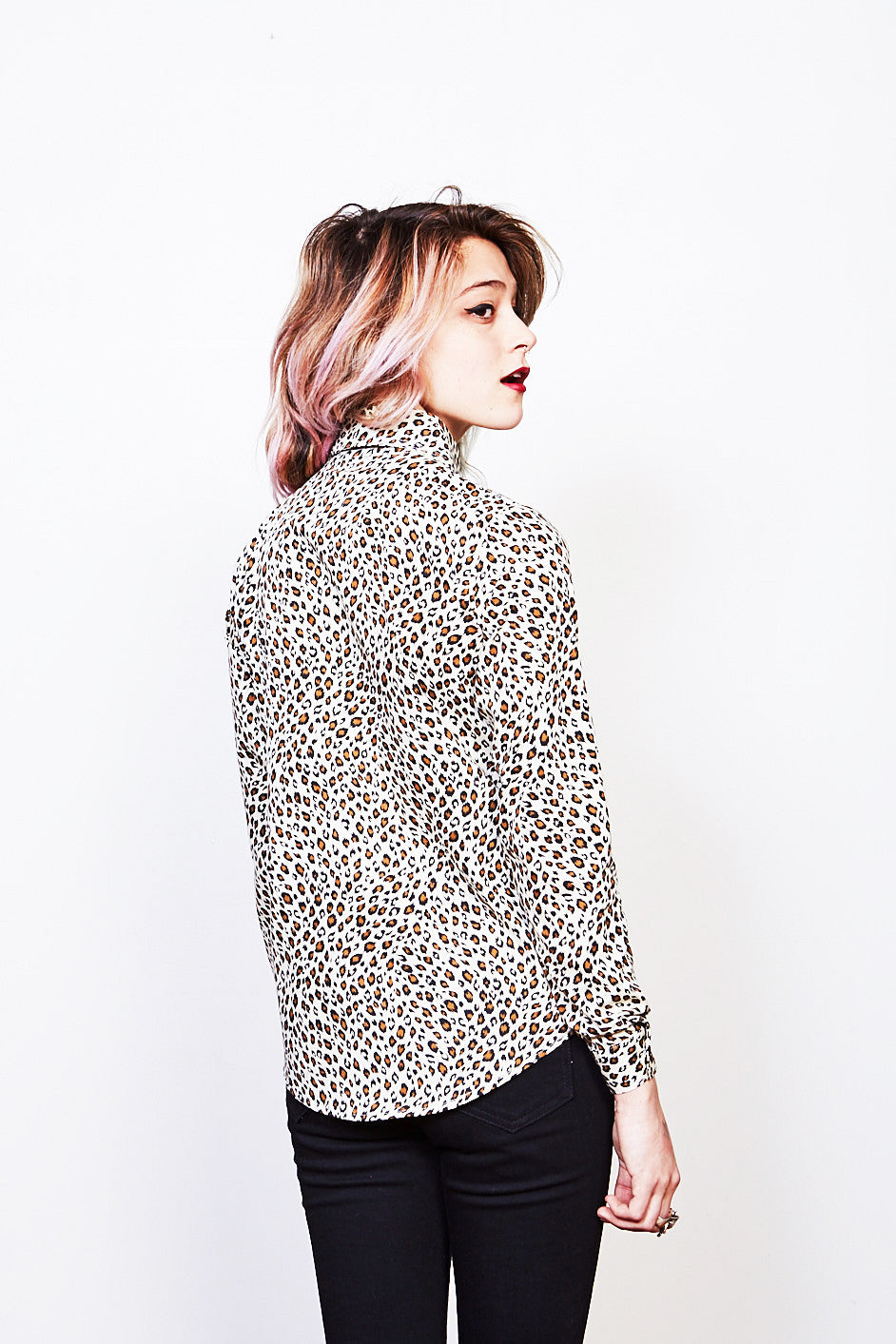Sylvain Button Up (Cream Leopard)