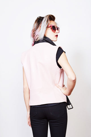 Bowery Vest (Baby Pink + Black) *MADE-TO-ORDER*