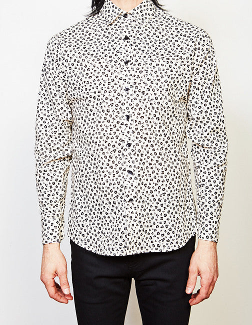 Wild One Button Up (Grey/Black Leopard)