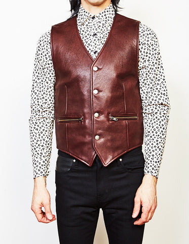 The Outlaw Vest (Oxblood Cowhide)