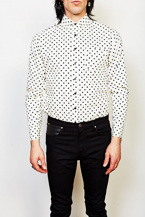 Voidoid Button Up (Black Polka Dot)