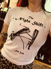The Night Shift Pale Pink Tee