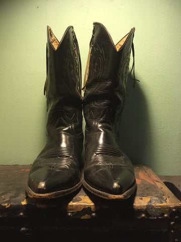 Braided Cowboy Boots (Size 9)