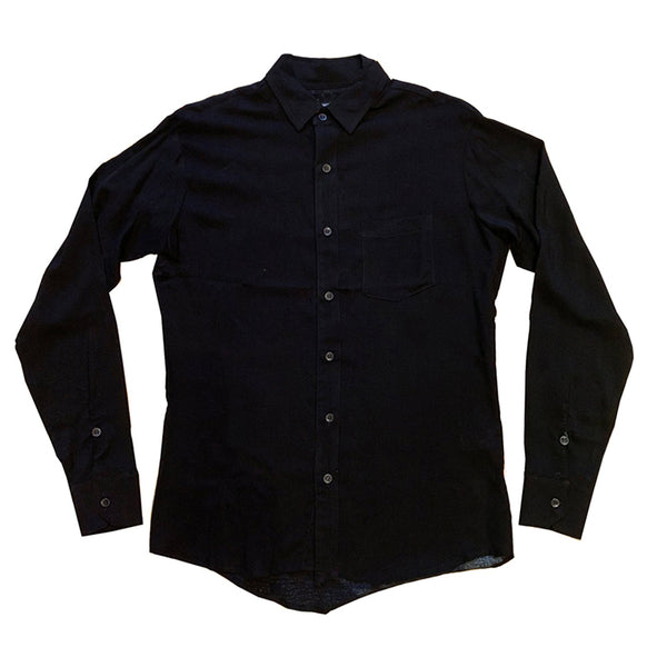 BLACK BUTTON–UP