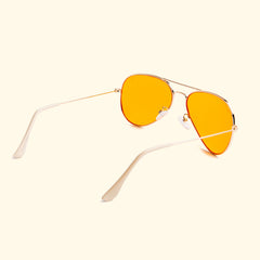 TV EYE Aviators (Gold w/Orange Lense)