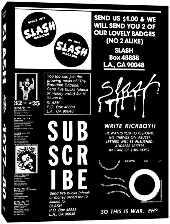 Slash: A Punk Magazine from Los Angeles, 1977–80