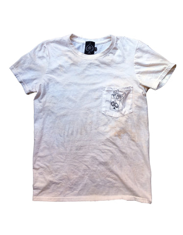 Smoke Up Johnny Pocket T (Bone White)