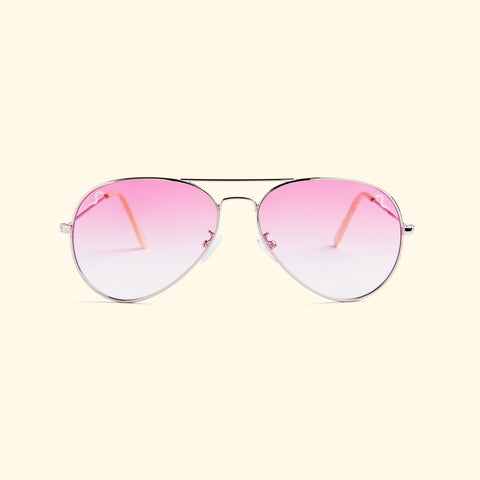 TV EYE Aviators (Silver w/Rose Gradient Lense)