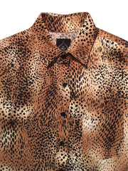 Cheetah Short Sleeve Button Up