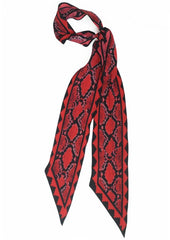 Snakeskin Super Skinnny Scarf (Red)
