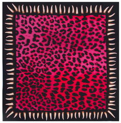 Leopard Teeth Bandana (Pink)