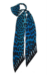 Leopard Teeth Super Skinny Scarf(Blue)
