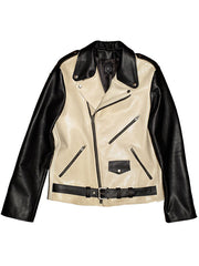 Men's Bowery Motorcycle Jacket (Cowhide & Camel Skin) *ONE-OF-A-KIND* SIZE M