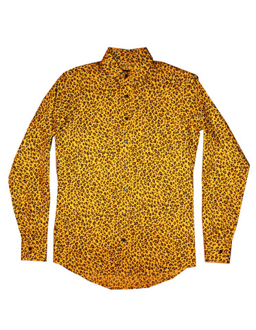 Sylvain Button Up (Gold Leopard)