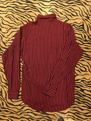 Red & Black Striped Button Up
