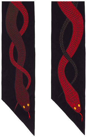 Snakes Super Skinny Scarf (Red & Brown)