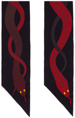 Snakes Super Skinny Scarf (Red)