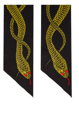 Snakes Super Skinny Scarf (Gold)