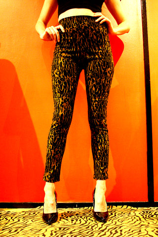 Cigarette Pant (Sateen Animal Print)