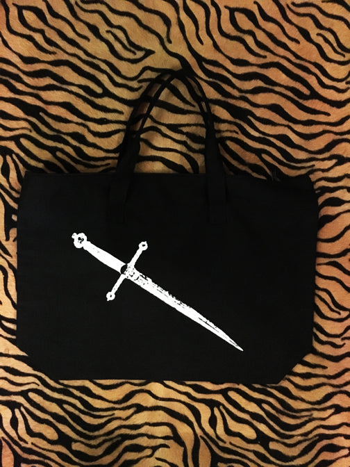 Dagger Zip Tote Bag (Black)