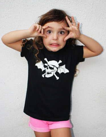Kids Flying Skull T