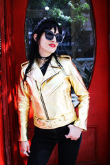 Women's Bowery Jacket (Metallic Gold)