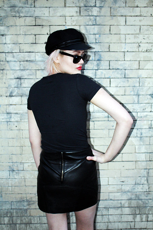 The Night Shift Leather Mini Skirt