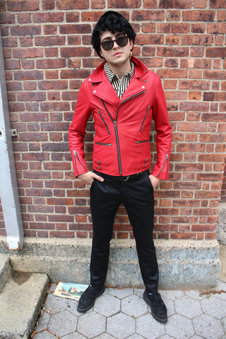 Men's Essex Motorycle Jacket (Red) (MADE-TO-ORDER)