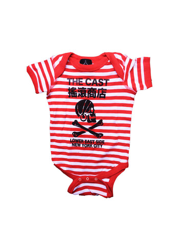 Kids The Cast Onesie (Red & White Stripe)